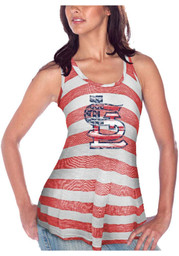 St Louis Cardinals Womens 4th of July Tank Top - Red