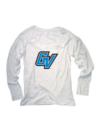 Grand Valley State Lakers Juniors Cotton Jersey White Scoop Neck Tee