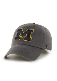 47 Michigan Wolverines Cleanup Adjustable Hat - Charcoal