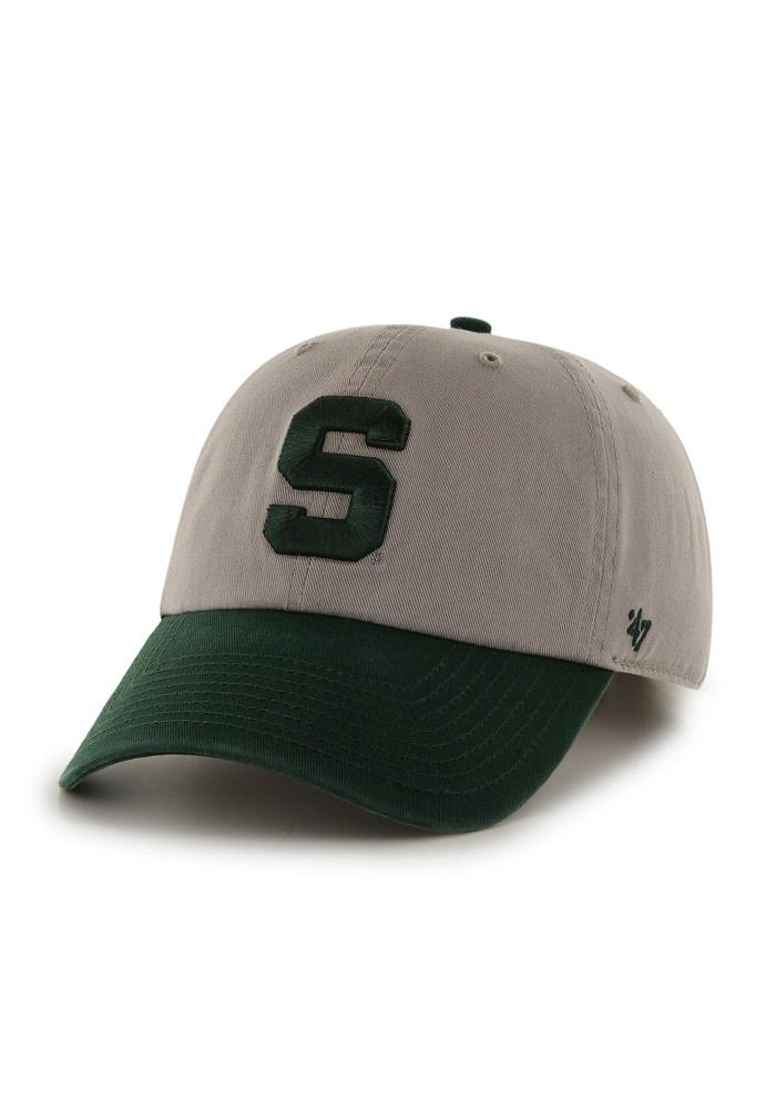 47 Michigan State Spartans Cleanup Adjustable Hat - Green - Image 1