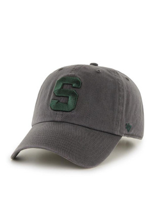 '47 Michigan State Spartans Mens Grey Clean Up Adjustable Hat