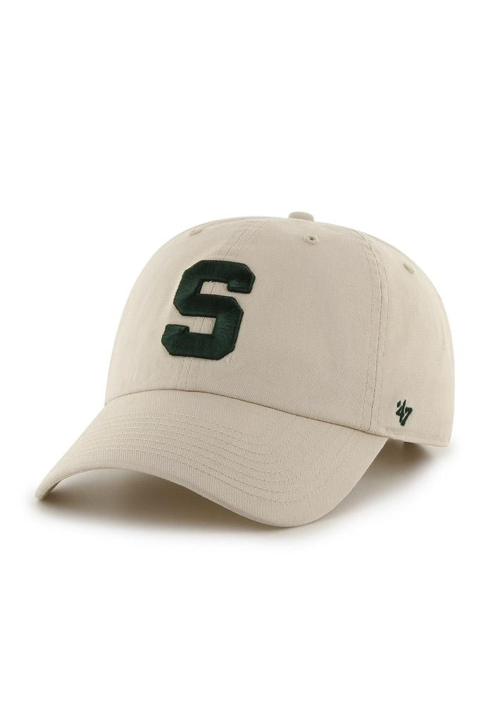 '47 Michigan State Spartans Clean Up Adjustable Hat - Brown - Image 1
