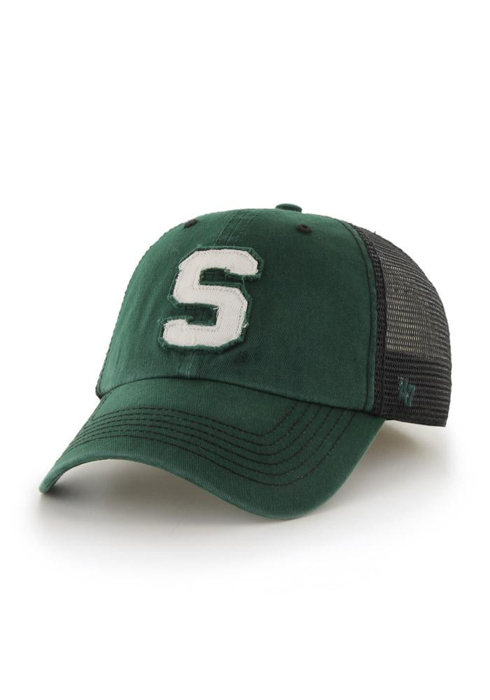 '47 Michigan State Spartans Mens Green Taylor 47 Closer Flex Hat - Image 1