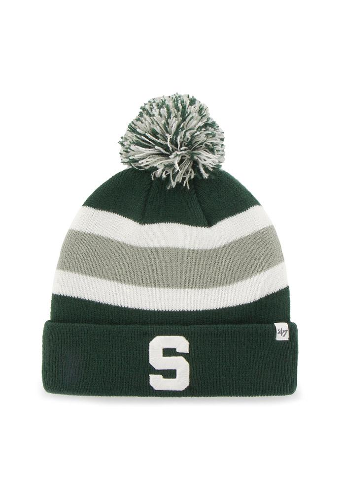 '47 Michigan State Spartans Green Breakaway Mens Knit Hat - Image 1