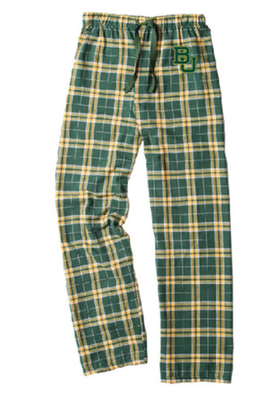 Baylor Bears Kids Green Flannel Sleep Pants