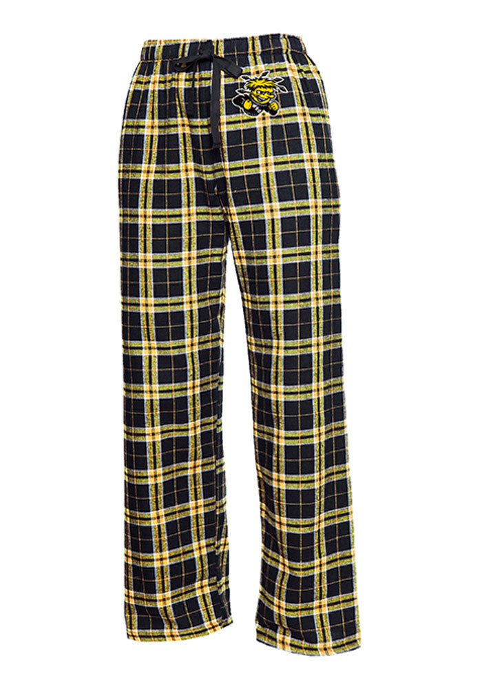 Wichita State Shockers Kids Black Flannel Sleep Pants - Image 1
