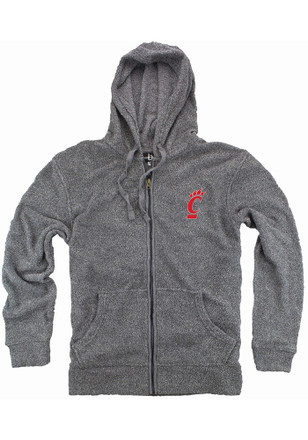 Cincinnati Womens Grey Cozy Full Zip Jacket