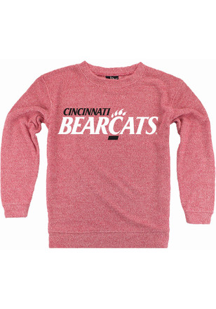Cincinnati Bearcats Womens Cozy Red Crew Sweatshirt