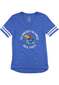 Kansas Jayhawks Girls Blue Sporty Slub T-Shirt