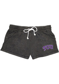 TCU Horned Frogs Womens Rally Shorts - Charcoal