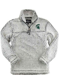 Michigan State Spartans Womens Sherpa 1/4 Zip Pullover - Grey