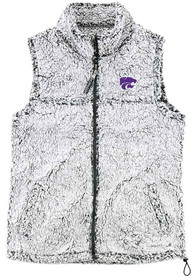 K-State Wildcats Womens Sherpa Vest - Grey