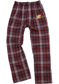 Central Michigan Chippewas Youth Team Flannel Sleep Pants - Maroon