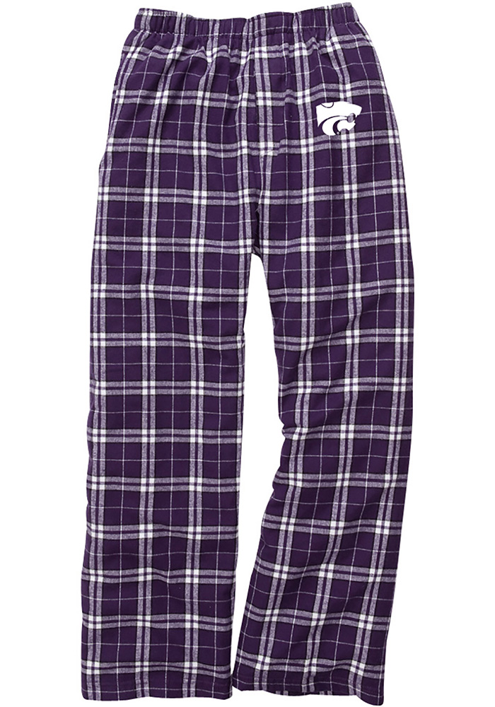 K-State Wildcats Youth Purple Team Flannel Sleep Pants - Image 1