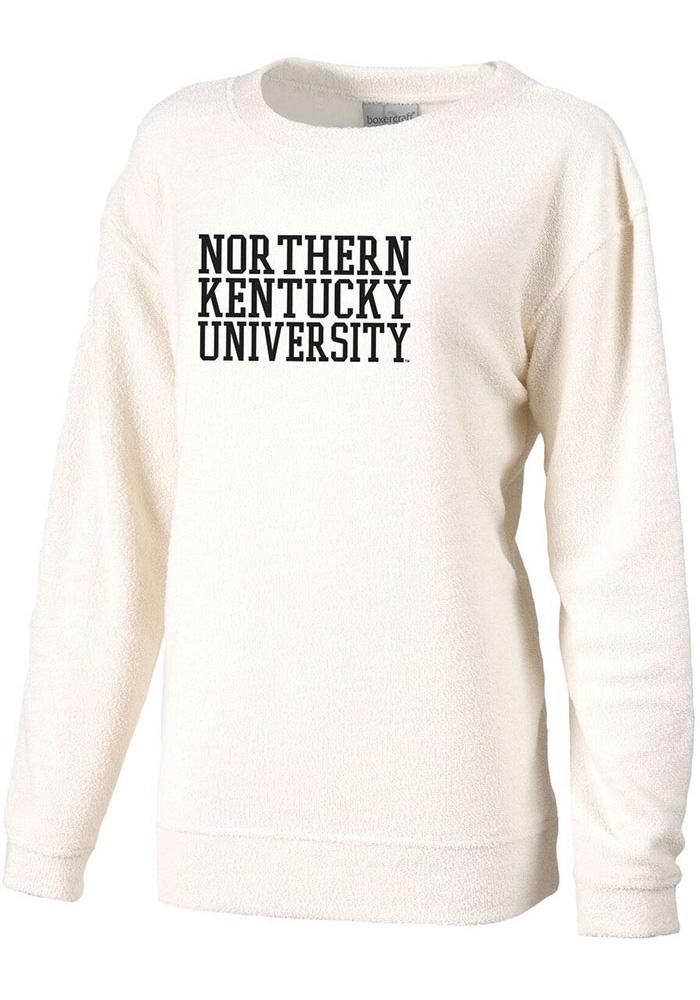finest selection a3417 76bca Northern Kentucky Norse Womens White Cozy Crew Sweatshirt