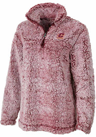 Central Michigan Chippewas Womens Sherpa 1/4 Zip Pullover - Red