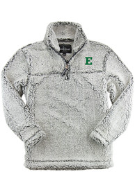 Eastern Michigan Eagles Womens Sherpa 1/4 Zip Pullover - Grey