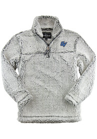 Grand Valley State Lakers Womens Sherpa 1/4 Zip Pullover - Grey