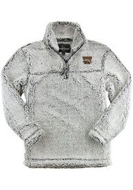Western Michigan Broncos Womens Sherpa 1/4 Zip Pullover - Grey