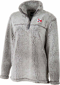Wichita Womens Sherpa Grey 1/4 Zip Pullover