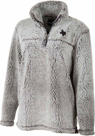 Texas Womens Sherpa Grey 1/4 Zip Pullover