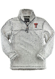 Texas Tech Red Raiders Womens Sherpa 1/4 Zip Pullover - Grey