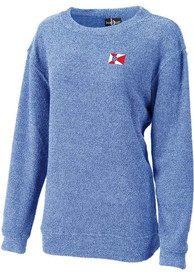 Wichita Womens Royal Flag Cozy Crew Sweatshirt