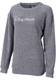 Lawrence Womens Navy Script Long Sleeve Crew Sweatshirt
