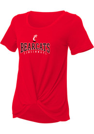 Cincinnati Bearcats Womens Twisted T-Shirt - Red