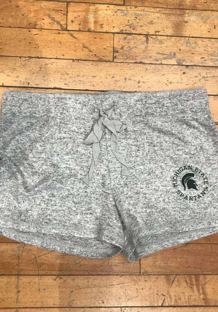 Michigan State Spartans Womens Grey Cuddle Shorts - Image 2