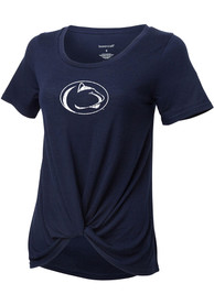 Penn State Nittany Lions Girls Twisted Fashion T-Shirt - Navy Blue