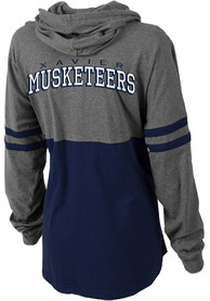 Xavier Musketeers Womens Pom Pom Jersey Hooded Sweatshirt - Grey