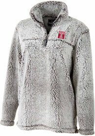 Temple Owls Womens Sherpa 1/4 Zip Pullover - Grey