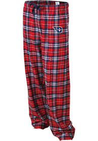 Dayton Flyers Womens Flannel Sleep Pants - Navy Blue