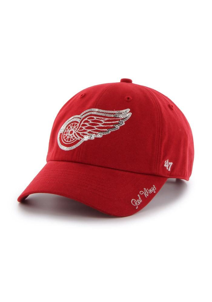 Detroit Red Wings Womens 47 Sparkle Clean Up Adjustable - Red