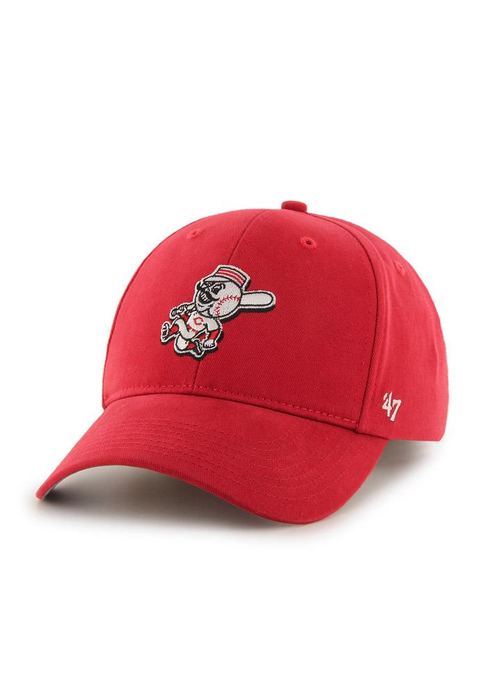 47 Cincinnati Reds Red Basic MVP Youth Adjustable Hat - Image 1