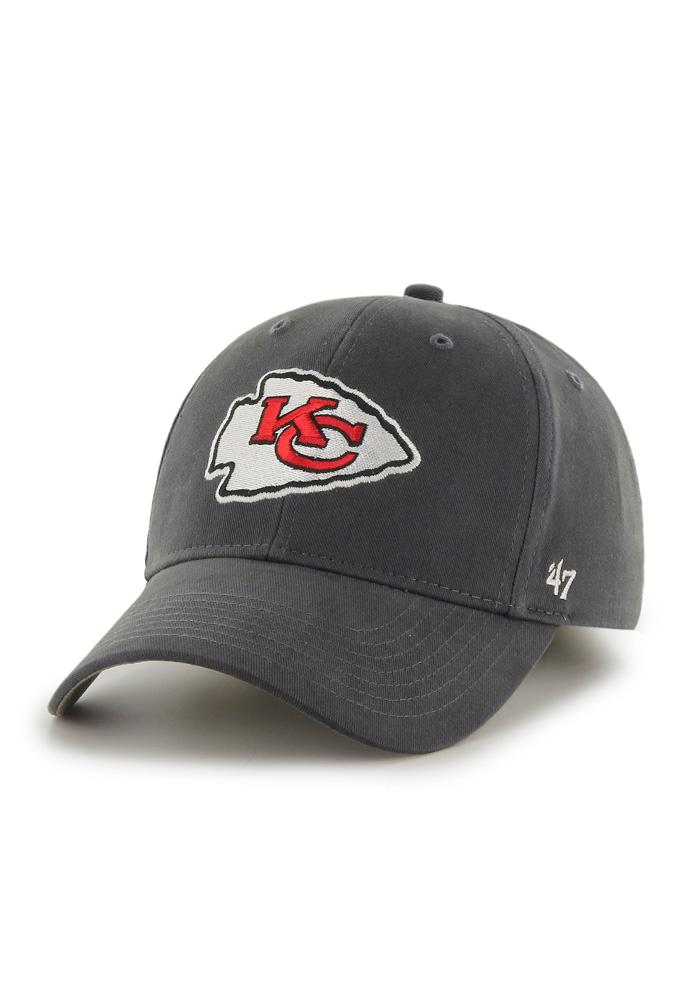 47 Kansas City Chiefs Grey Basic MVP Youth Adjustable Hat facbc0cd0