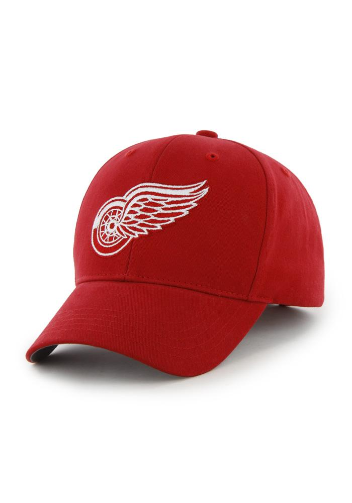 Detroit Red Wings Red Basic MVP Youth Adjustable Hat - Image 1