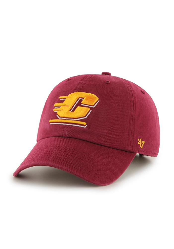 47 Central Michigan Chippewas Clean Up Adjustable Hat - Red - Image 1