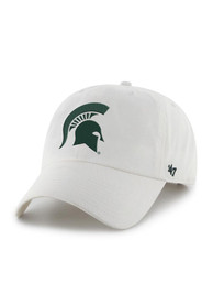'47 Michigan State Spartans Clean Up Adjustable Hat - White