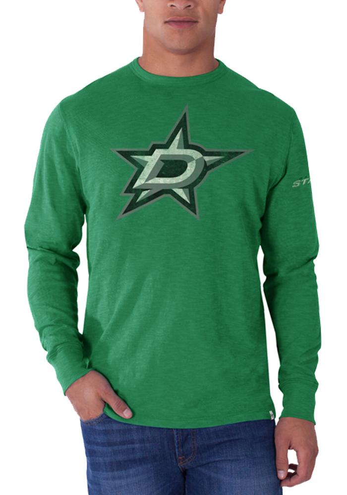 47 Dallas Stars Kelly Green Two Peat Long Sleeve Fashion T Shirt - Image 1