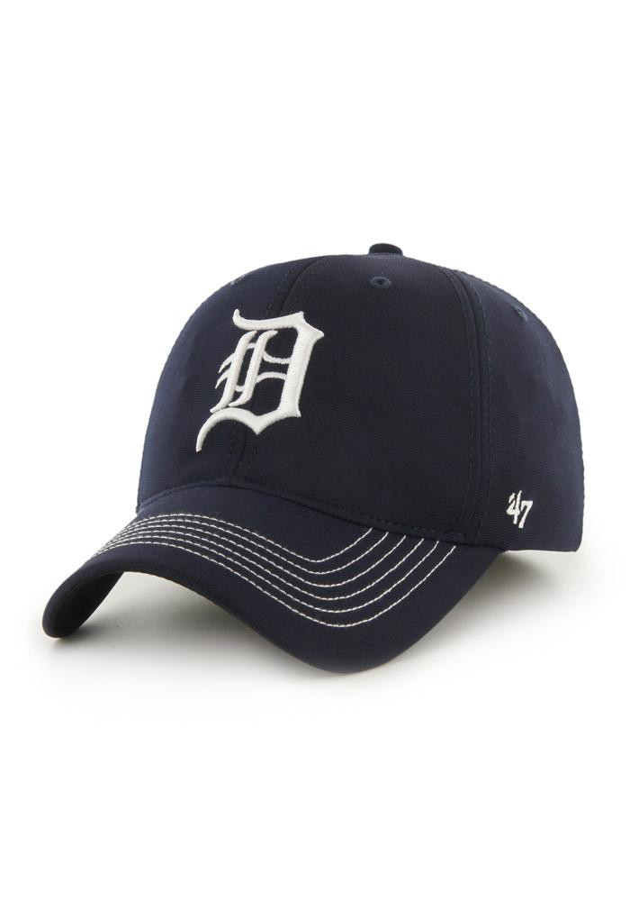'47 Detroit Tigers Mens Navy Blue Game Time Closer Flex Hat - Image 1