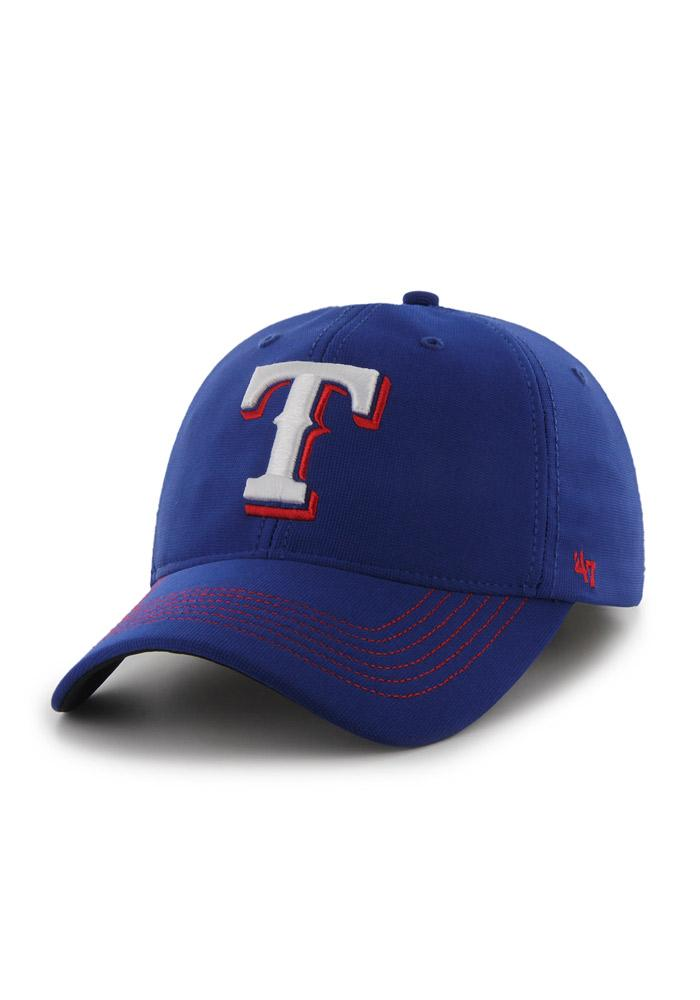 47 Texas Rangers Mens Blue Game Time Closer Flex Hat - Image 1