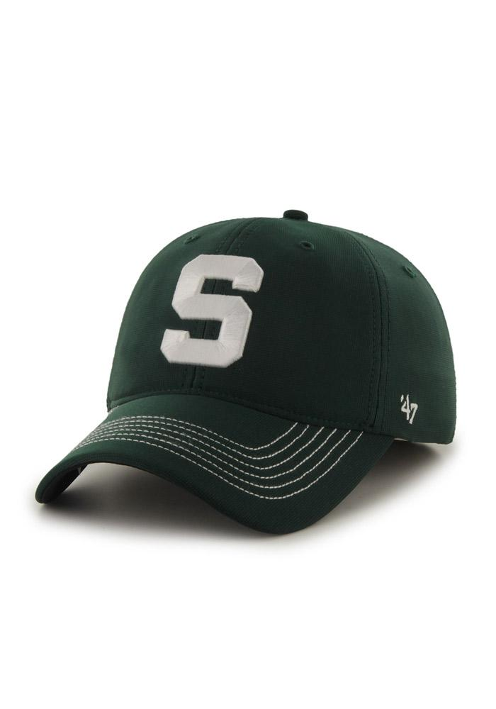 47 Michigan State Spartans Mens Green Game Time Closer Flex Hat - Image 1