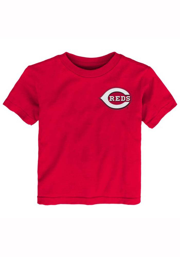 Joey Votto Cincinnati Reds Toddler Red Toddler Joey Votto Short Sleeve Player T Shirt - Image 2