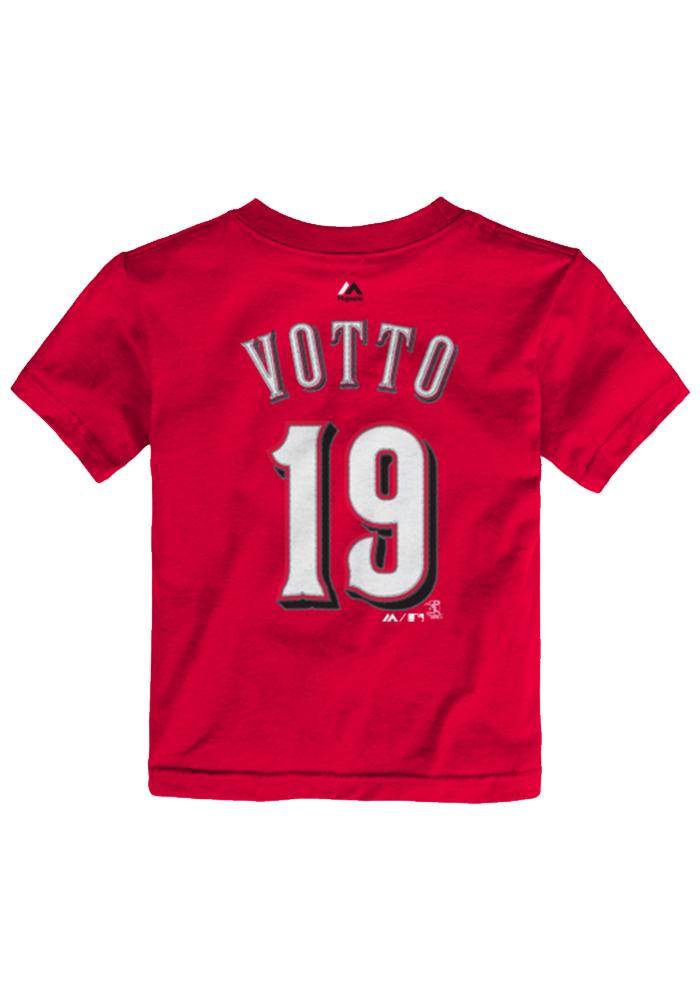 Joey Votto Cincinnati Reds Toddler Red Toddler Joey Votto Short Sleeve Player T Shirt - Image 3