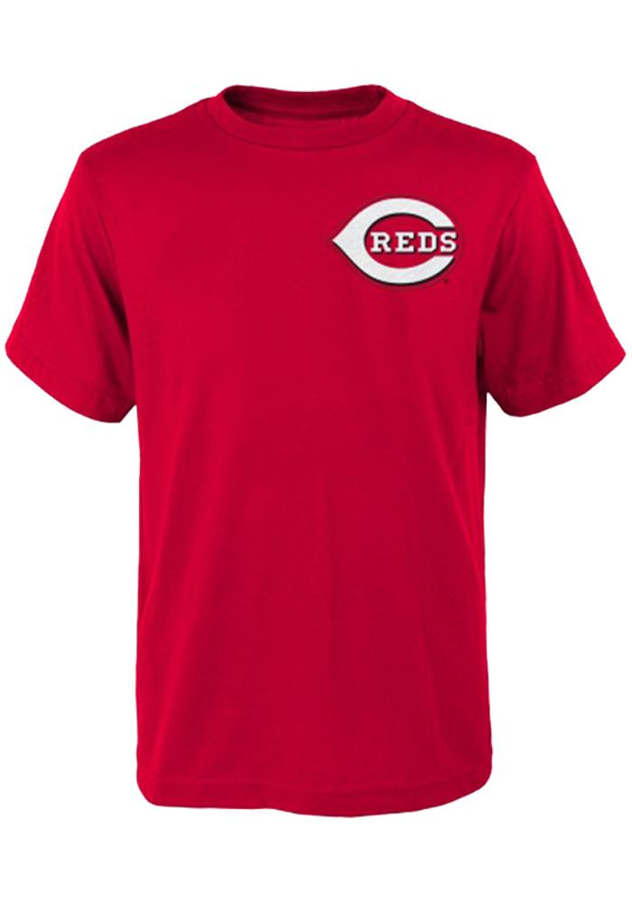 Joey Votto Cincinnati Reds Kids Red Youth Joey Votto Player Tee - Image 1
