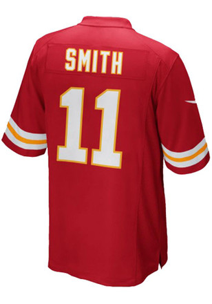 Alex Smith Outer Stuff Kansas City Chiefs Kids Red Replica Game Jersey