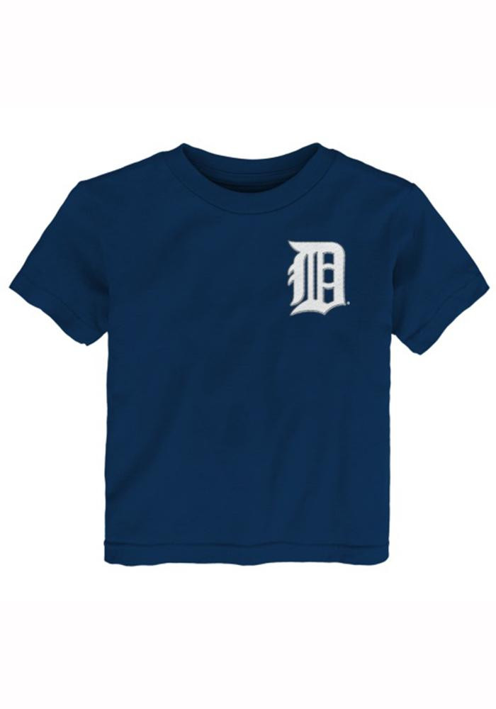 Miguel Cabrera Detroit Tigers Toddler Navy Blue Player Tee Short Sleeve Player T Shirt - Image 1