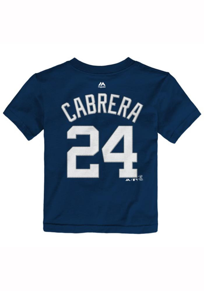 Miguel Cabrera Detroit Tigers Toddler Navy Blue Player Tee Short Sleeve Player T Shirt - Image 2